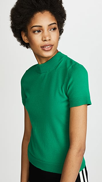 Milly Mod Neck Top - Emerald