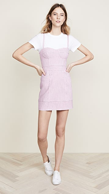 Milly Tweed Bustier Dress