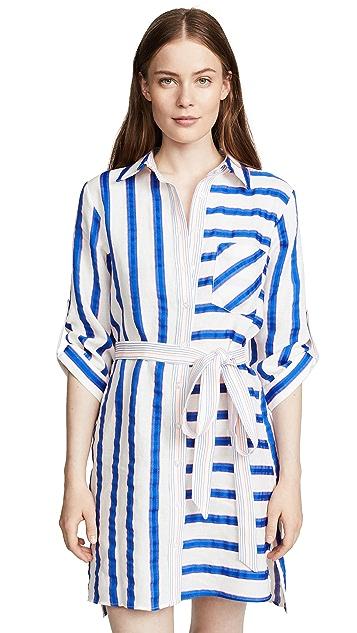Milly Striped Shirtdress