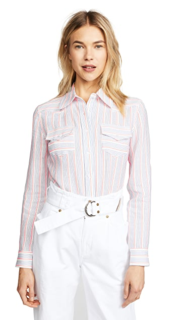 Milly Striped Western Shirt