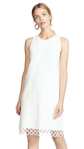 Milly Eyelet Scallop Shift Dress