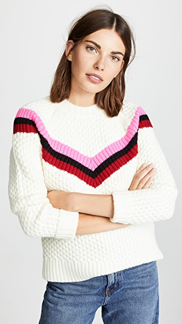 Milly Striped Varsity Sweater