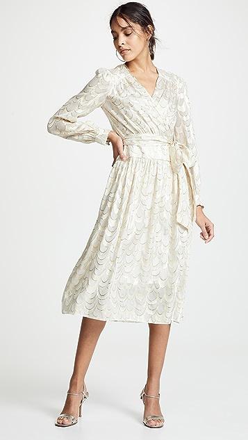 75fc7ca86573 Milly Katy Wrap Midi Dress ...