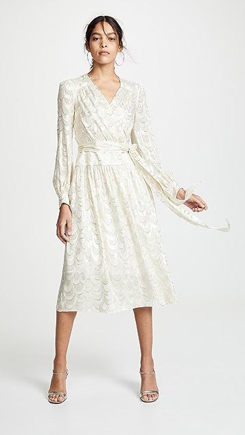 Milly Katy Wrap Midi Dress