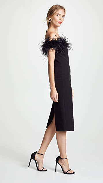 Milly Feather Bodice Dress