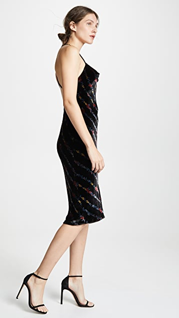 Milly Velvet Slip Dress