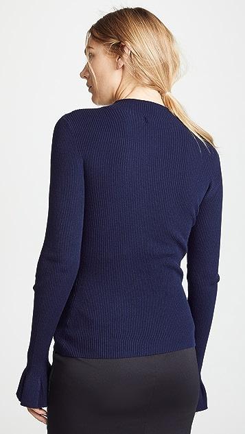 Milly Rib Rhinestone Pullover