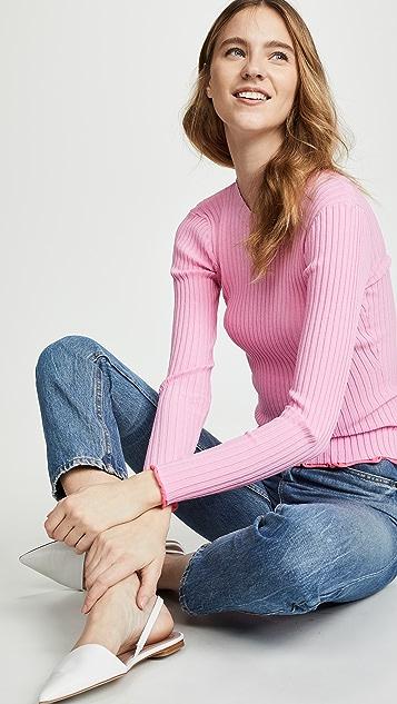 Milly Пуловер с контрастными краями