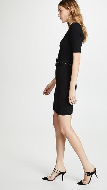 Milly Приталенное платье-футляр с ремнем