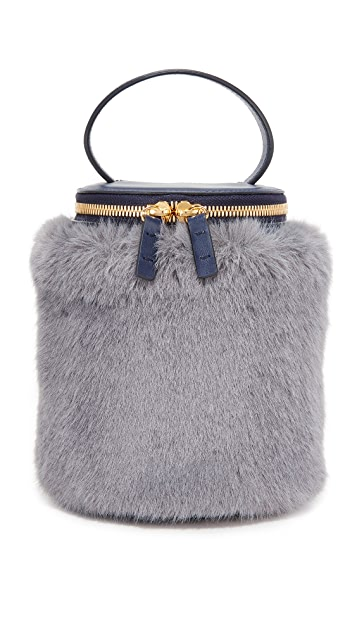MILMA Detachable Faux Fur Cylinder Bag