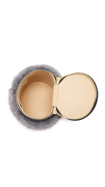 MILMA Detachable Faux Fur Cylinder Bag