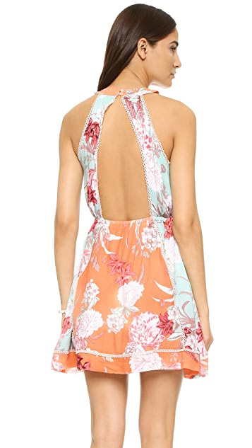 MINKPINK Backyard Bliss Halter Dress