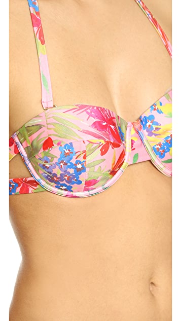 MINKPINK Caribbean Fever Cup Bikini Top