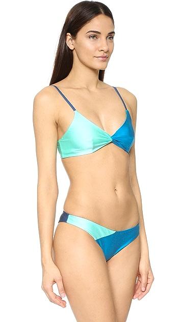 MINKPINK Sea Splice Twist Bikini Top
