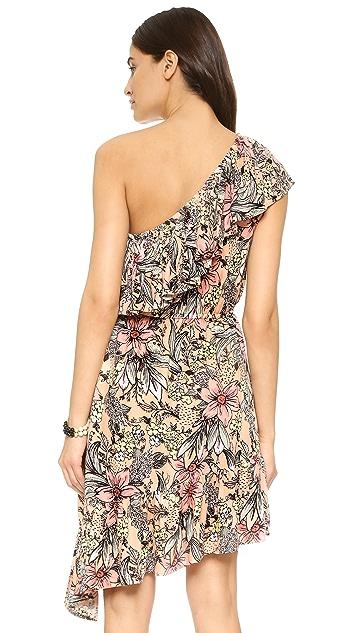 MINKPINK Wattle Wonder Ruffle One Shoulder Dress