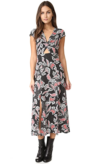 MINKPINK Twist Front Midi Dress
