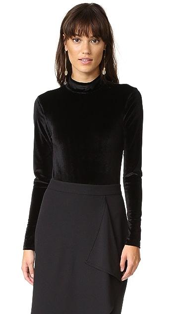 MINKPINK Tell Tale Backless Velvet Bodysuit