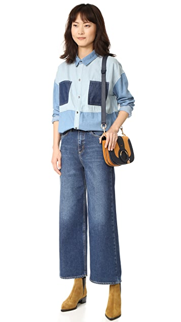 MINKPINK Soul Patch Oversize Denim Shirt