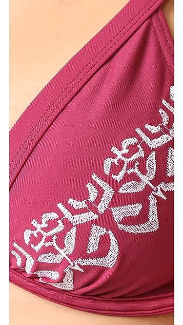 MINKPINK Mandala Wonder Embroidered Cupped Bikini Top