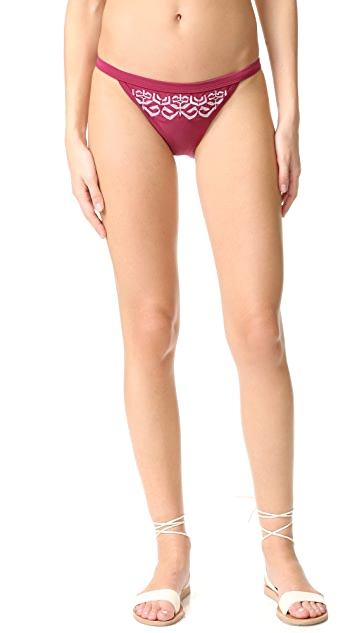 MINKPINK Mandala Wonder Embroidered Bikini Bottoms