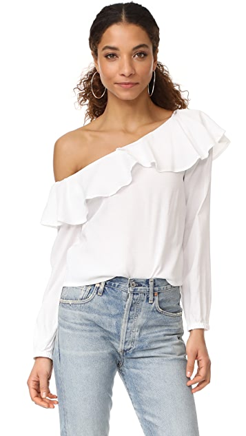 MINKPINK On the Sly One Shoulder Top