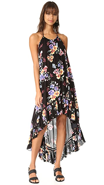 MINKPINK Hidden Wonder Wrap Halter Dress