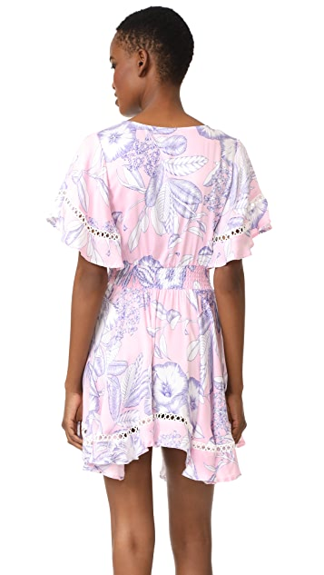 MINKPINK Tropical Punch Flutter Sleeve Dress