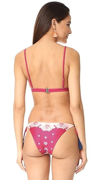 MINKPINK Setting Sun Triangle Bikini Top