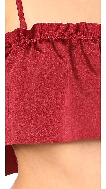 MINKPINK Rosa Ruffle Strapless Swim Top