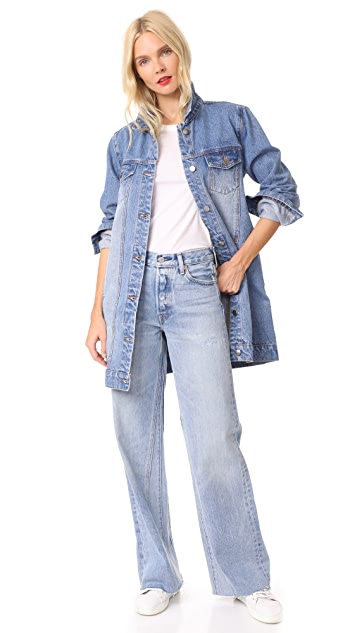 MINKPINK Mina Tunic Denim Jacket