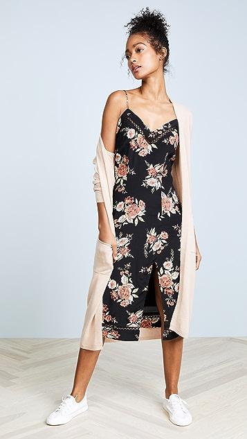 MINKPINK Wallflower Split Slip Dress