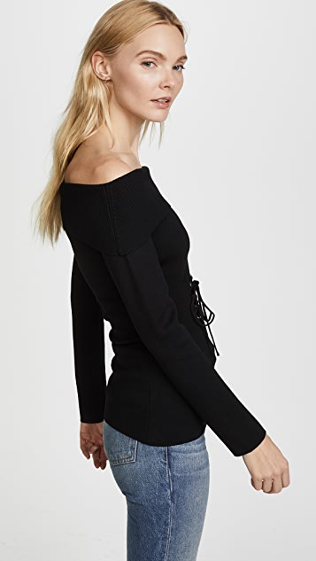 MINKPINK Hold Tight Corset Knit Top