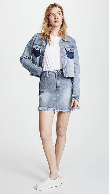 MINKPINK Highlight Stepped Hem Mini Skirt