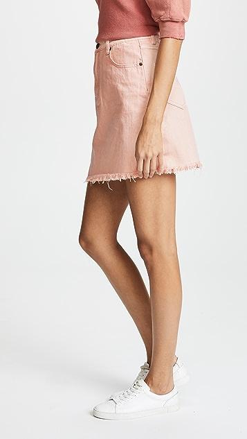 MINKPINK Vo Vo Overdyed Denim Skirt