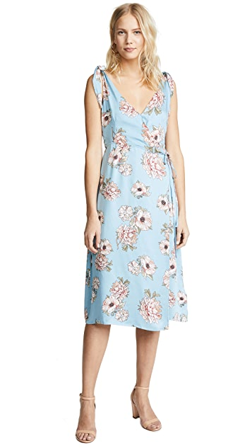 MINKPINK Elysium Tie Shoulder Midi Dress