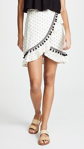 MINKPINK Common Ground Wrap Skirt