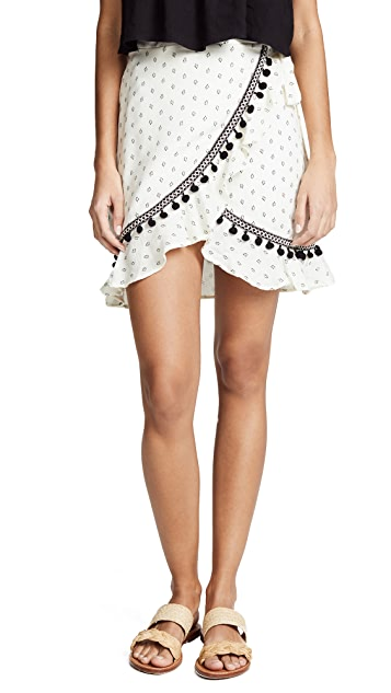 MINKPINK Common Ground Wrap Skirt