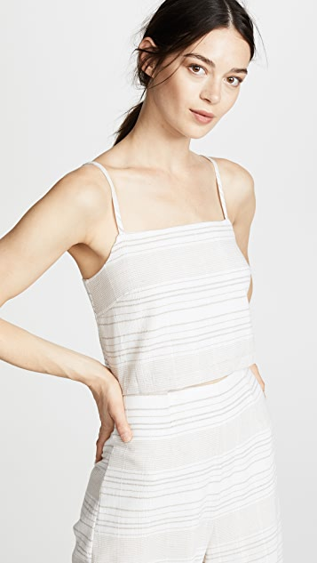 MINKPINK Natural Instinct Tie Back Top