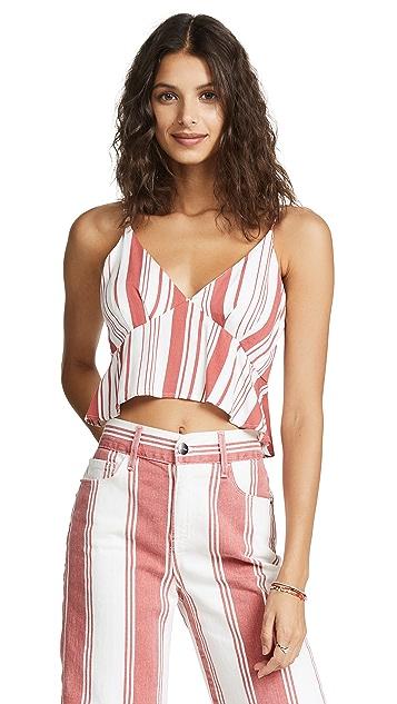 MINKPINK Stripe Peplum Camisole
