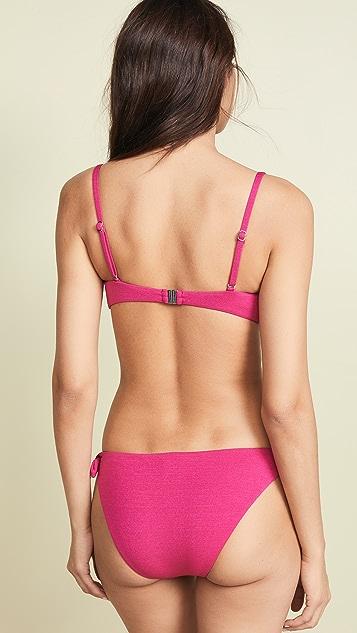 MINKPINK Lola Tie Front Bandeau Bikini Top