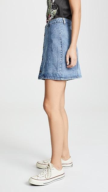 MINKPINK Button Front Skirt