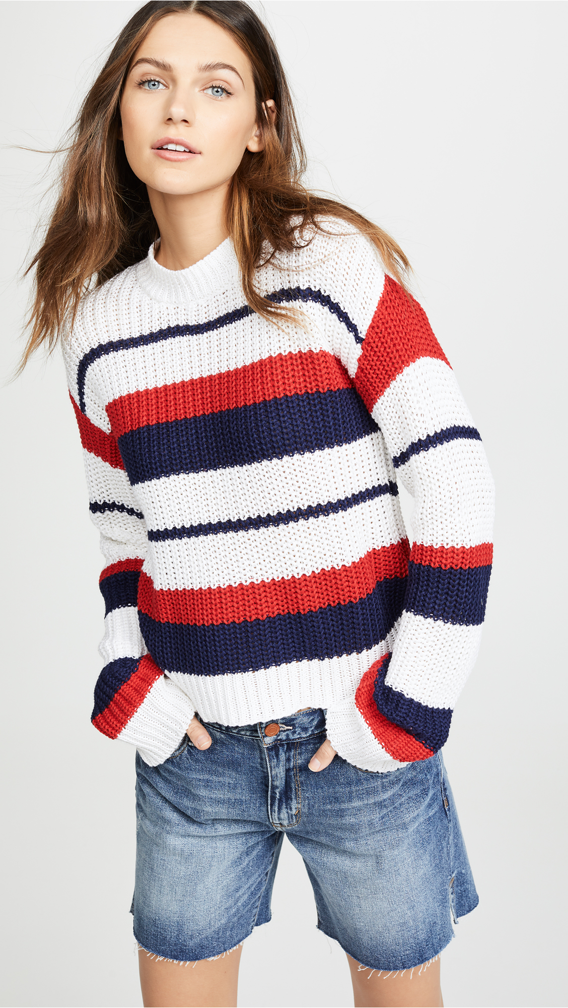MINKPINK Sailor Stripe Knit Sweater