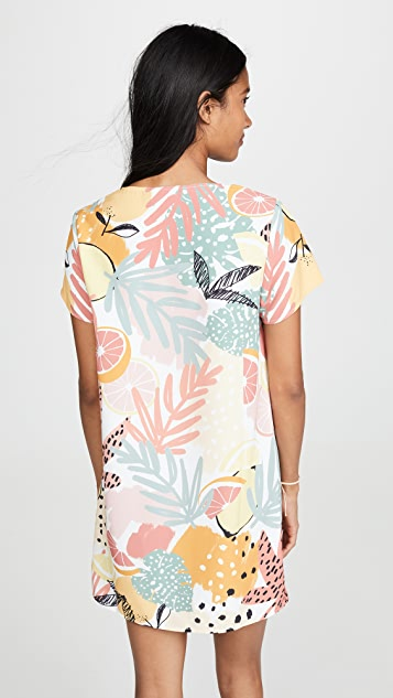 MINKPINK Citrus Print Tee Dress