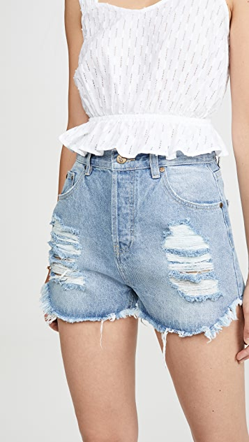 MINKPINK Slasher Denim Shorts