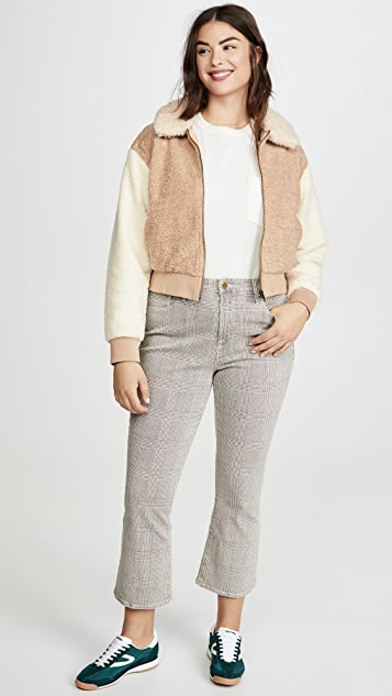 MINKPINK Mixed Faux Fur Bomber Jacket