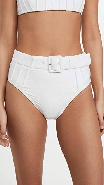 MINKPINK Lyrical High Belted Bikini Bottoms