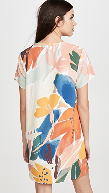 MINKPINK Abstract Foliage Tee Dress