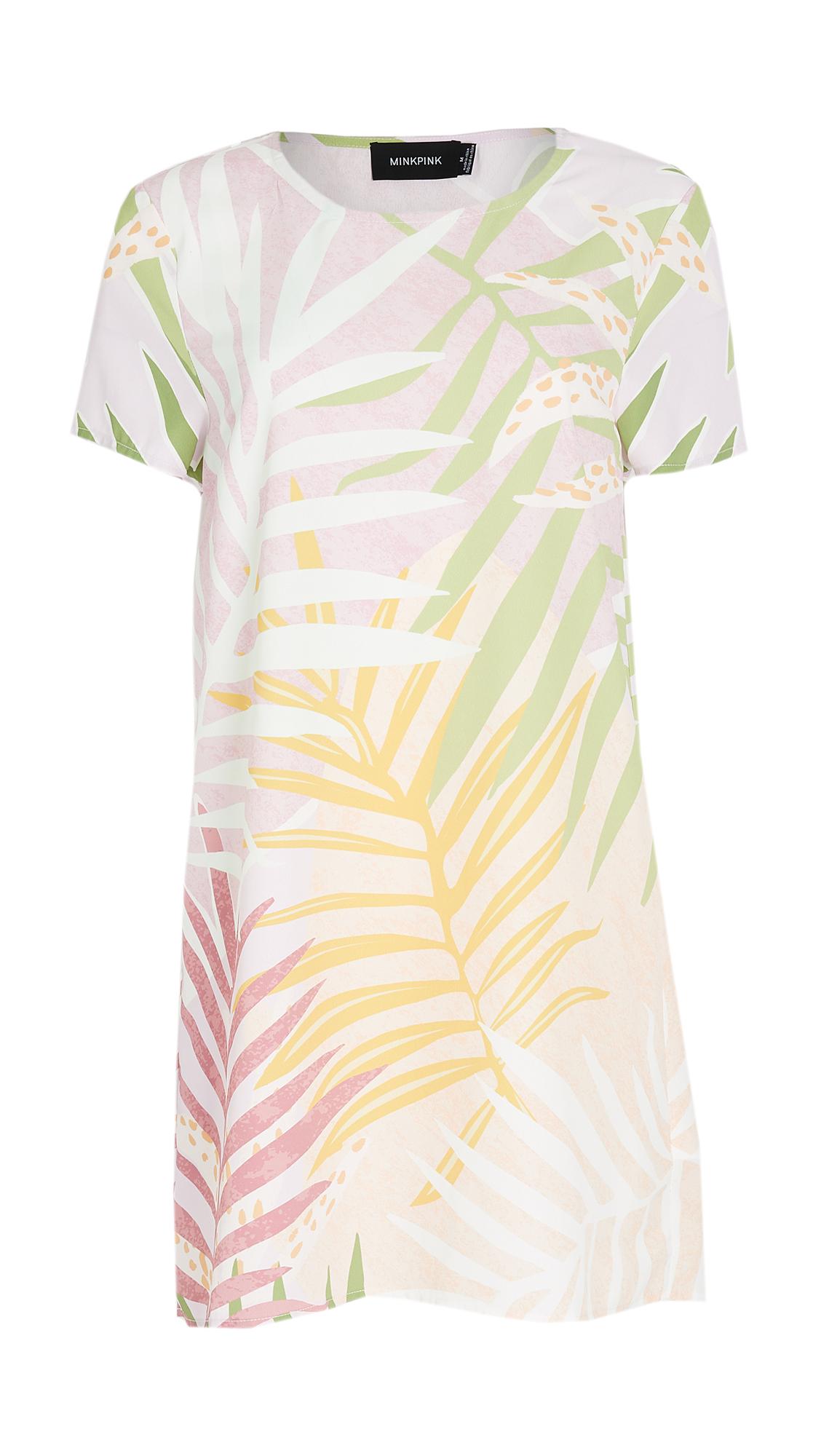 MINKPINK Palm Sprigs Tee Dress