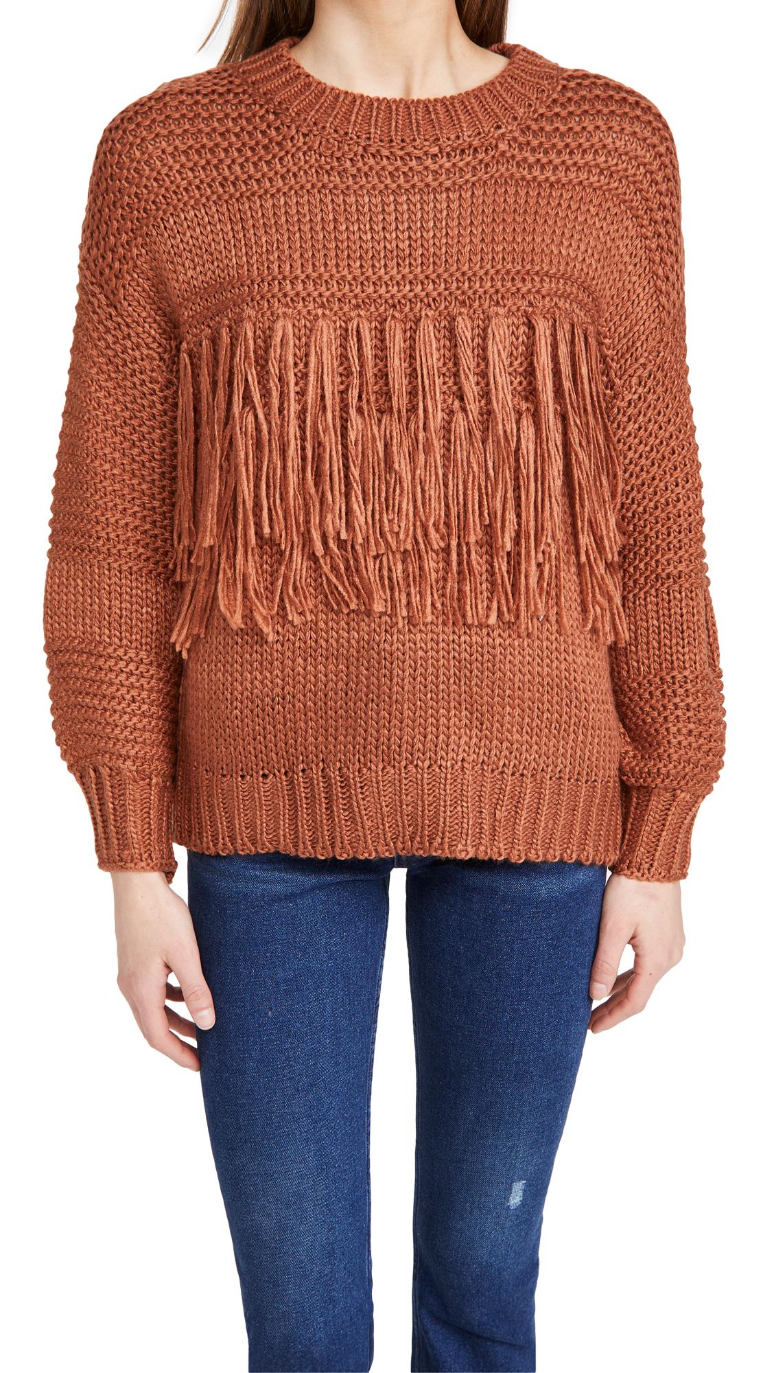 MINKPINK Yoanna Chunky Fringe Knit Sweater