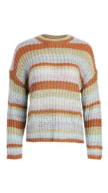 MINKPINK Carol Stripe Knit Sweater